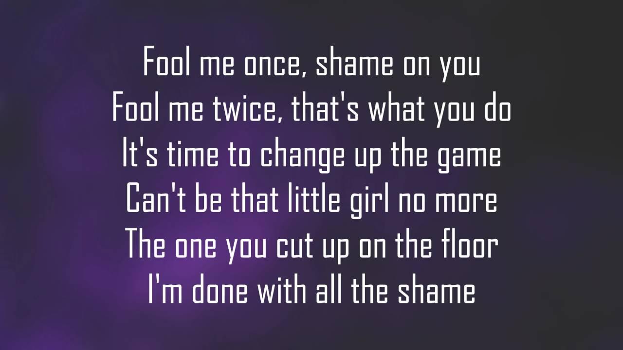 Jojo I Am lyrics   Fool me once, It's time to change, Im done