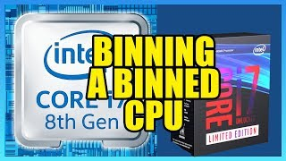 Binning a CPU: Volt-Frequency Curve on an i7-8086K