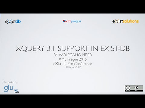 Wolfgang Meier Announces XQuery 3.1 Support in eXist-db