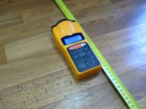 Ultrasonic Tape Measure With Laser Pointer
