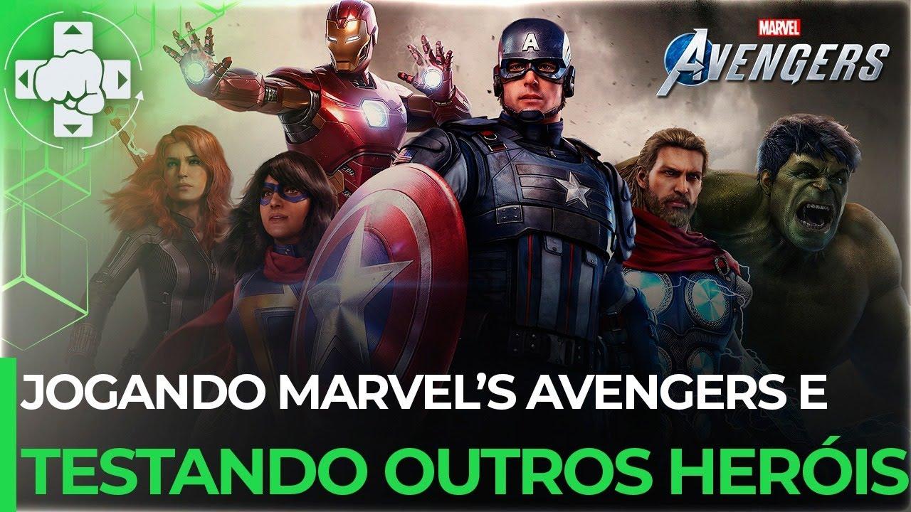 Marvel's Avengers - Jogando a Beta! Vamos testar mais heróis ft. @GAMERLLIL Games