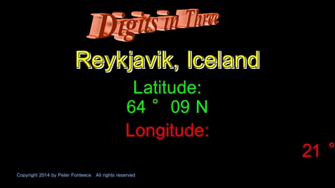 Reykjavik Iceland Latitude And Longitude Digits In Three YouTube - Iceland latitude