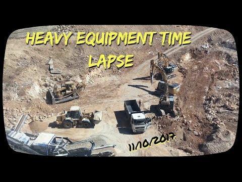 Heavy Equipment Time Lapse , Jerusalem 171011
