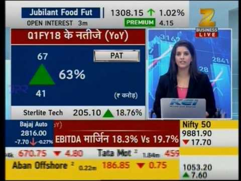 Anupam Jindal, CFO, Sterlite Tech during an interview with Zee Business