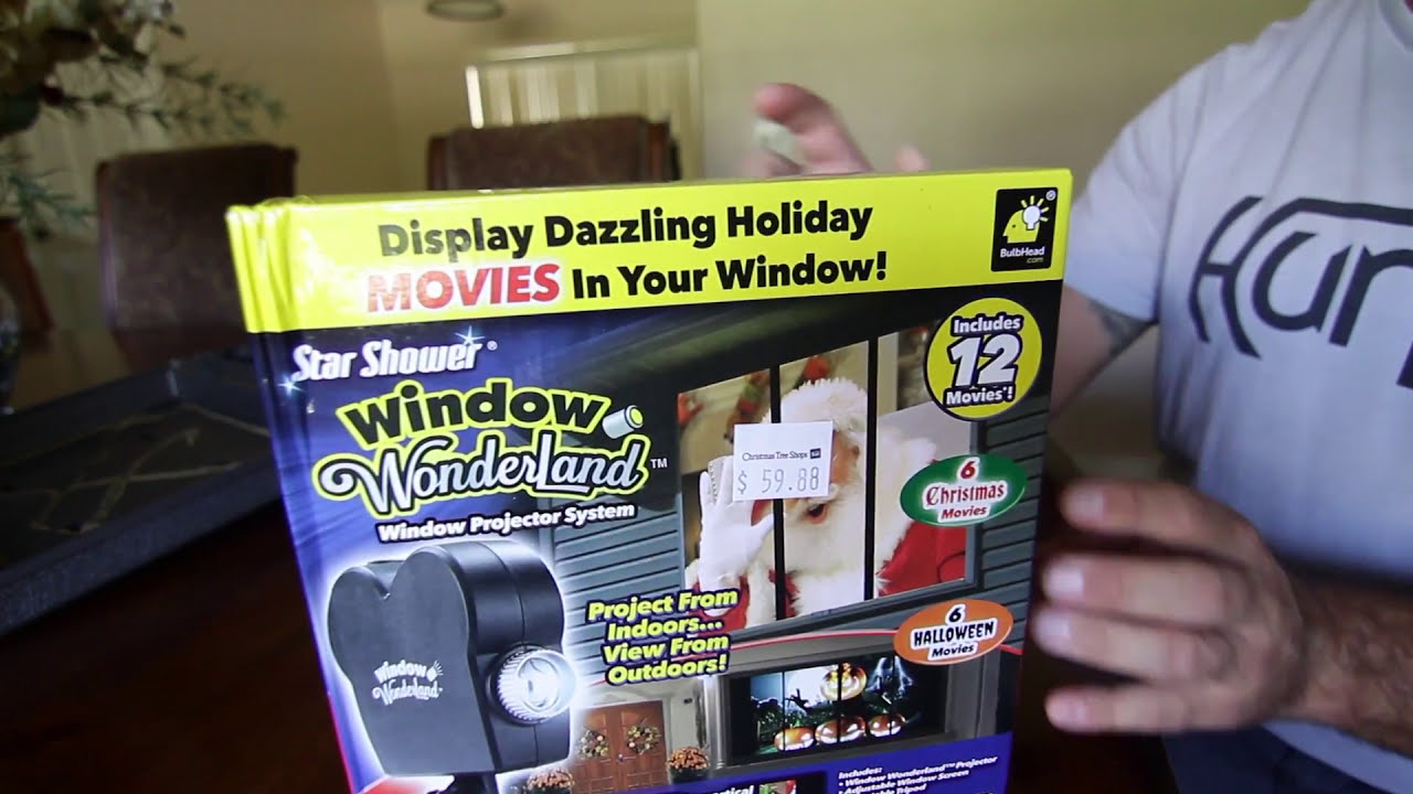 Window wonderland window holiday projector youtube for Window wonderland