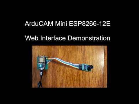 ArduCAM Mini ESP8266-12E Demonstration
