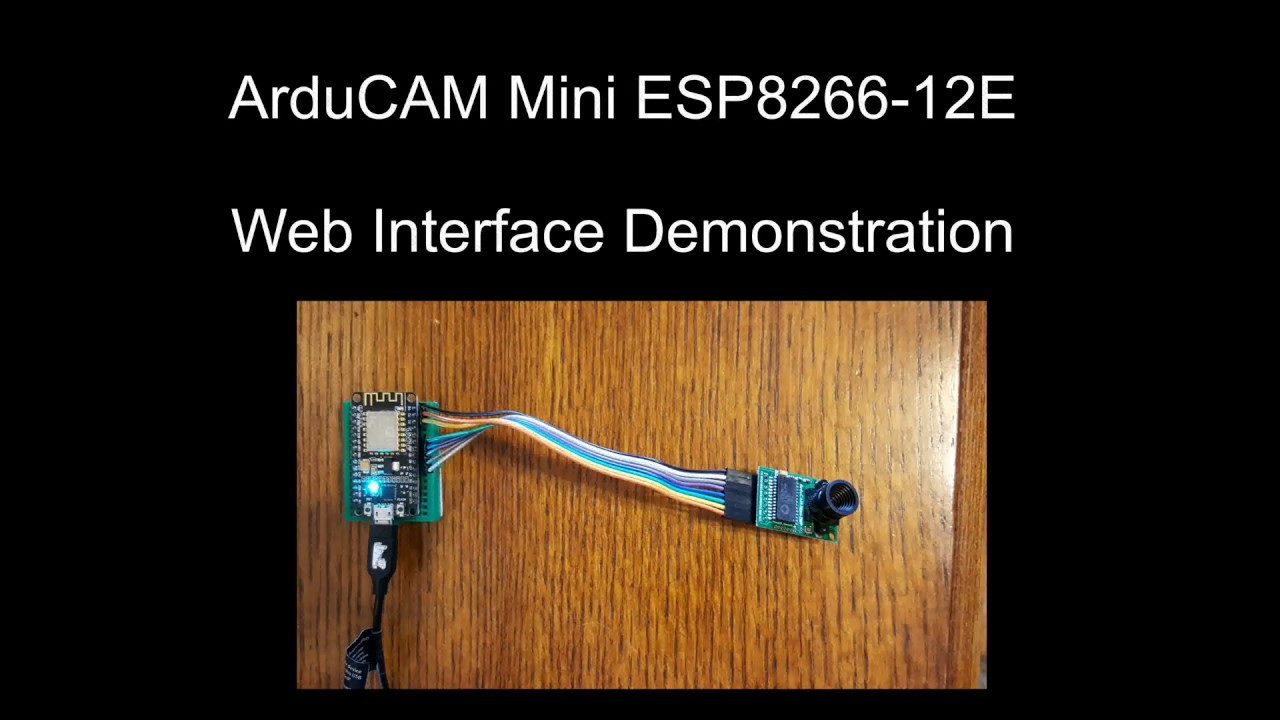 ArduCAM Mini ESP8266 Web Camera: 3 Steps (with Pictures)