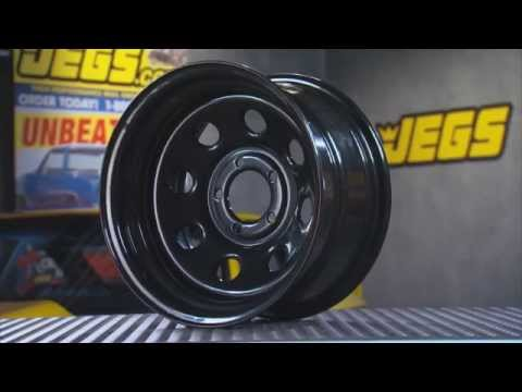 JEGS Baja-8 Steel Wheels In Black With Kenny Wallace