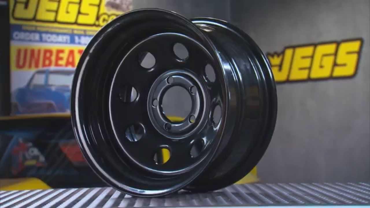 JEGS Baja-8 Steel Wheels In Black With Kenny Wallace - YouTube