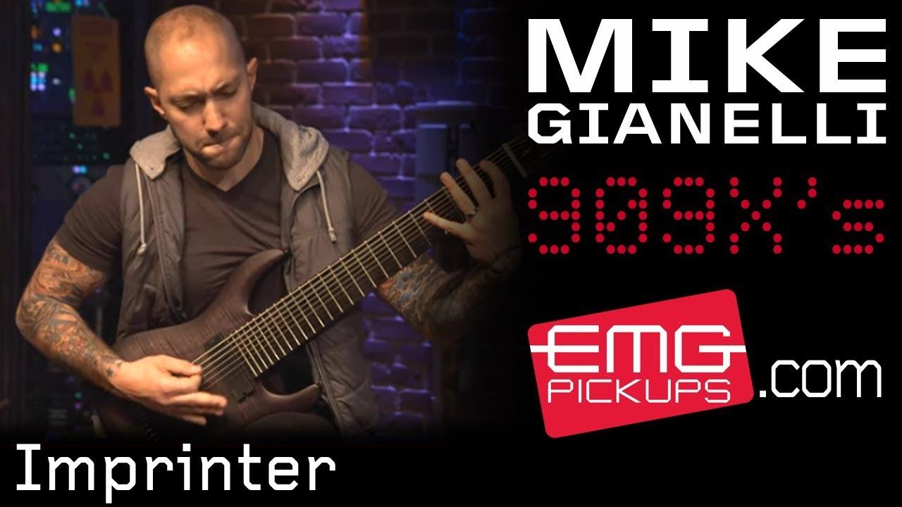 mike gianelli plays imprinter on a 9 string guitar emgtv youtube. Black Bedroom Furniture Sets. Home Design Ideas