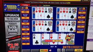 Wheel video poker what to hold in quick quads