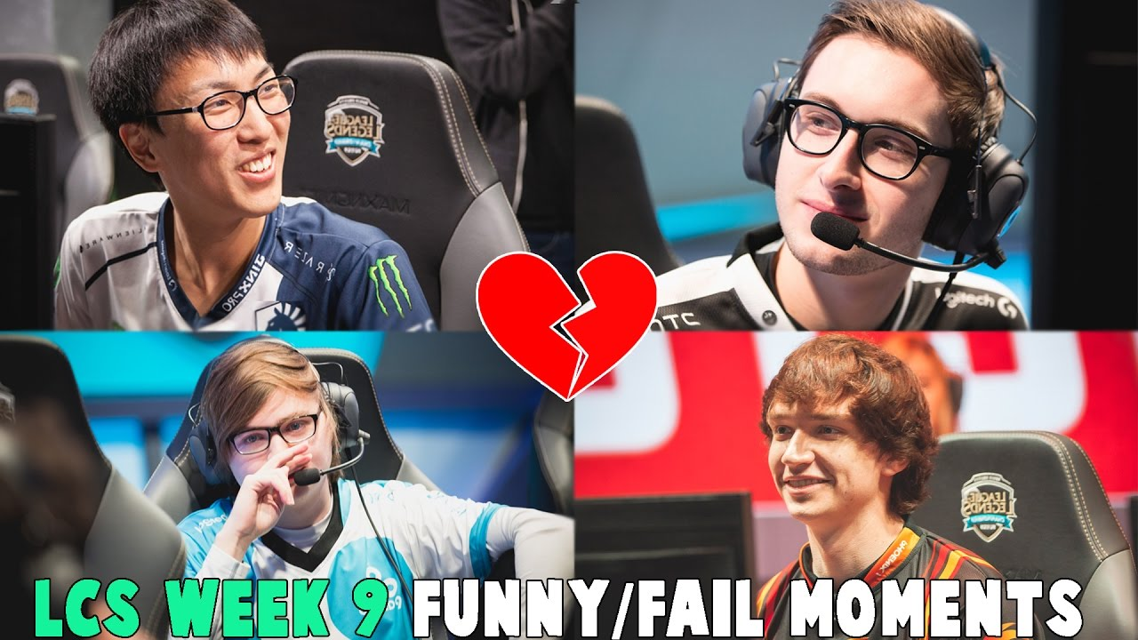 LCS WEEK 9 FUNNY/FAIL MOMENTS   2017 Spring Cut up