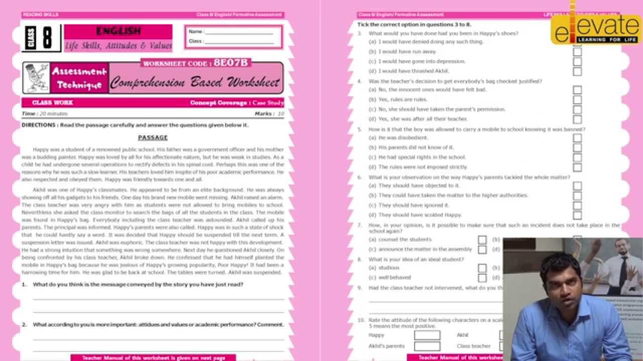 small resolution of English Worksheet class 8th - YouTube