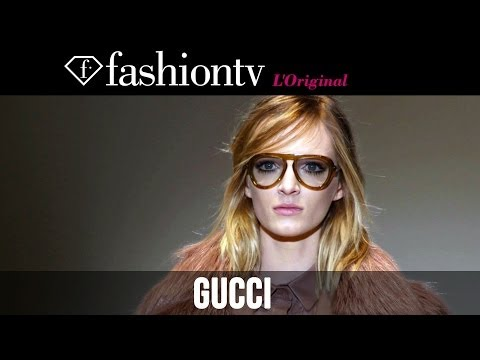 Joan Smalls, Kasia Struss at Gucci Fall/Winter 2014-15 | Milan Fashion Week MFW | FashionTV