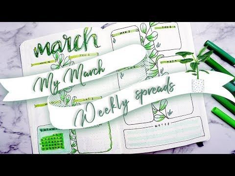 MY MARCH WEEKLY SPREAD SETUP || GREEN || PLAN WITH ME MARCH ||
