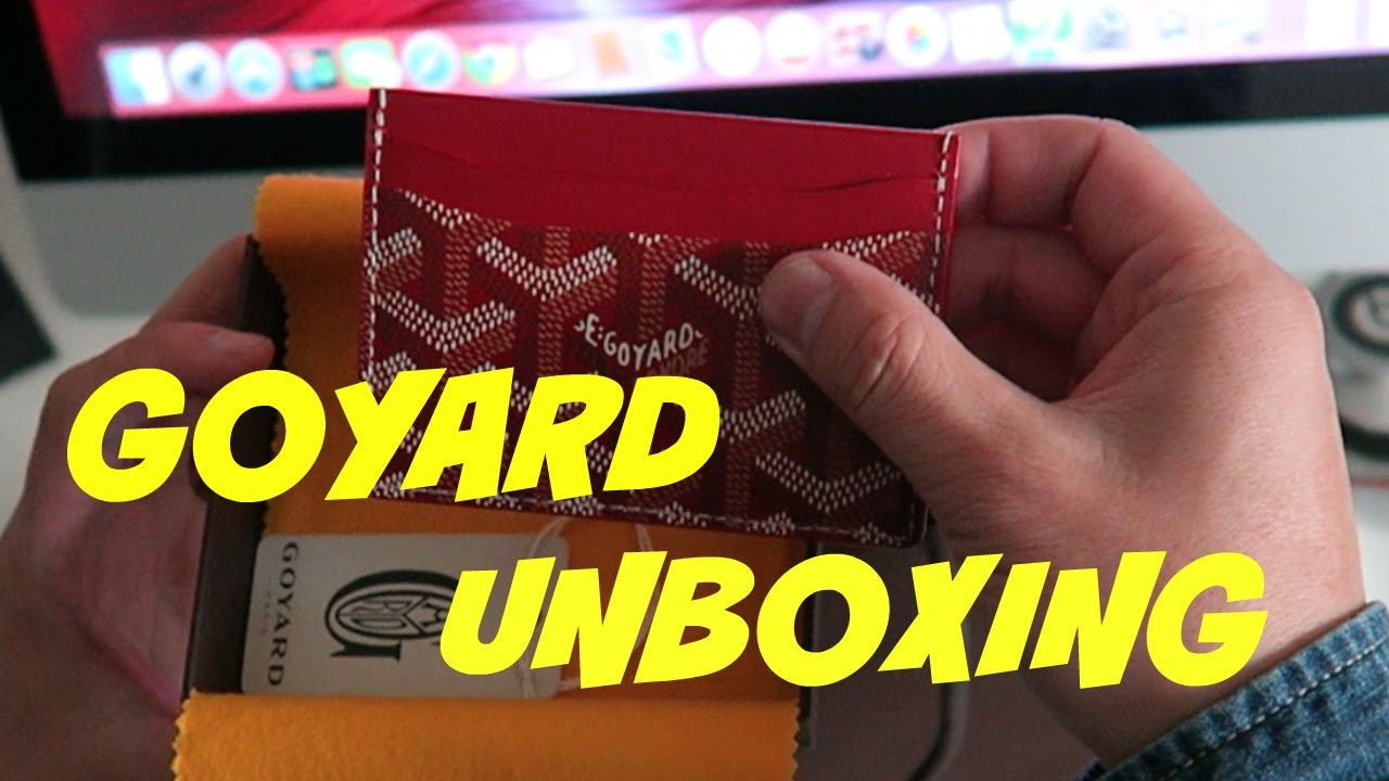 on sale 902a0 14752 AUTHENTIC GOYARD CARD HOLDER UNBOXING 2016