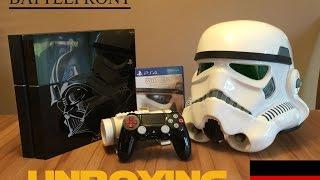 Unboxing PS4 STAR WARS Limited Edition 1TB BATTLEFRONT Deluxe [Deutsch] als Stormtrooper