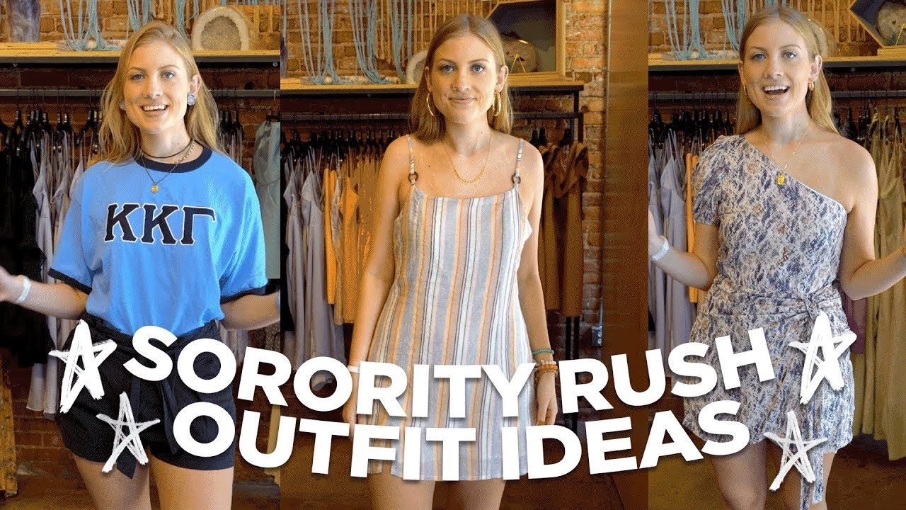 SORORITY RUSH OUTFIT IDEAS // What To Wear To Formal Panhellenic Recruitment