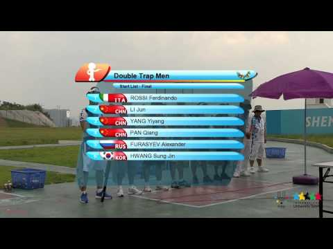 26th SU Shenzhen (CHN) - Shooting Sport:Final Double Trap Men