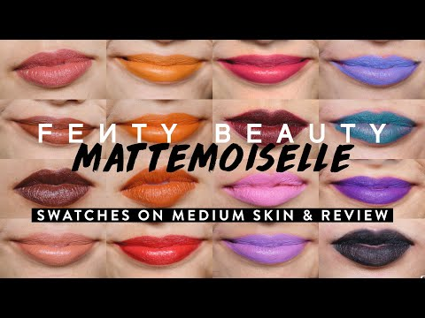 EVERY SHADE OF FENTY MATTEMOISELLE PLUSH MATTE LIPSTICK | swatches & review thumbnail