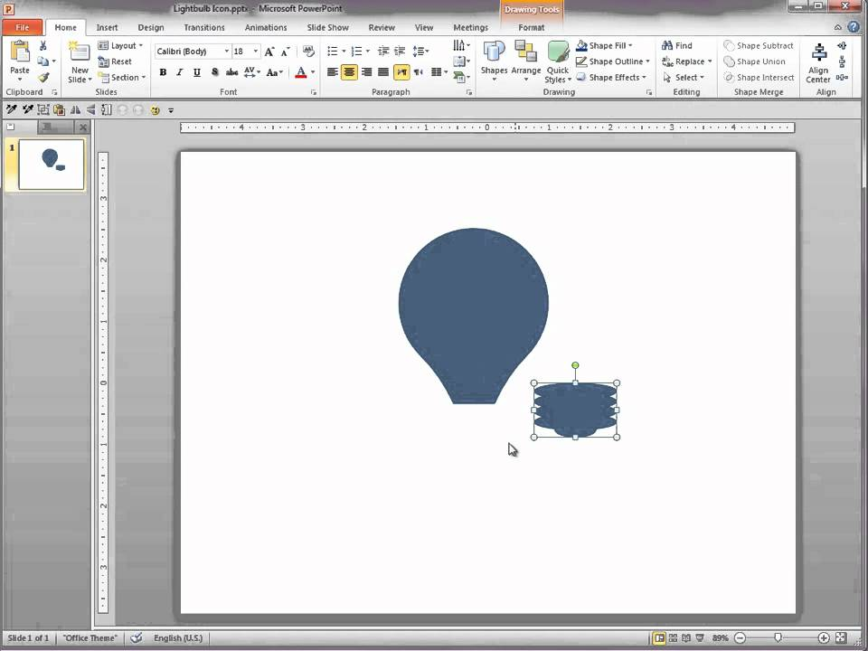powerpoint 2010 creating icons i youtube