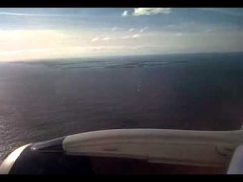 Bermuda approach and landing on Jet Blue