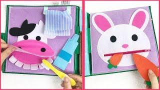 Quiet book dollhouse, Sách vải một ngày ở nông trại học kĩ năng, Đồ chơi giáo dục Chim Xinh