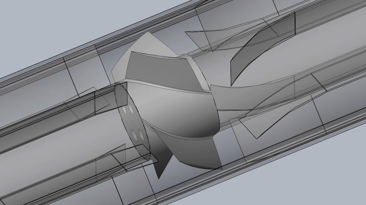 SolidWorks - Newest Version Supersonic Duct Fan Animation