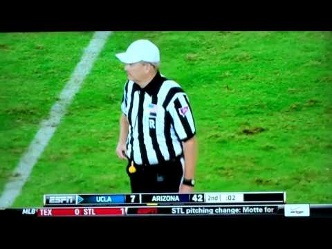 Fan Dressed as a Ref Stops UCLA Bruins vs. Arizona Wildcats Football Game!