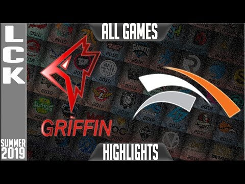 GRF vs HLE Highlights ALL GAMES | LCK Summer 2019 Week 10 Day 4 | Griffin vs Hanwah Life Esports
