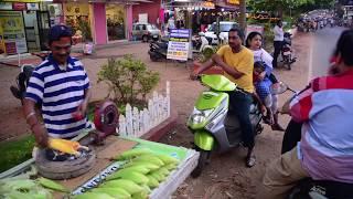 Уличная еда жареная кукуруза Индия, штат Гоа