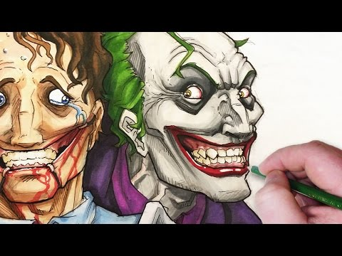 Let 39 s draw the joker don 39 t worry be happy for Draw with jazza mural