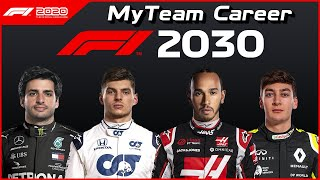 What happens over 10 SEASONS in the MY TEAM CAREER MODE in F1 2020??