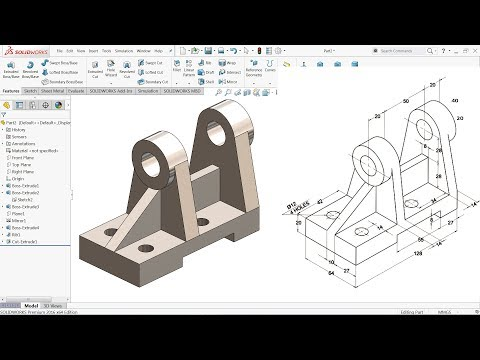 SolidWorks Tutorial for beginners Exercise 57