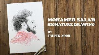 Baixar Mohamed Salah Signature Drawing with Deen Assalam Sabyan Backsound