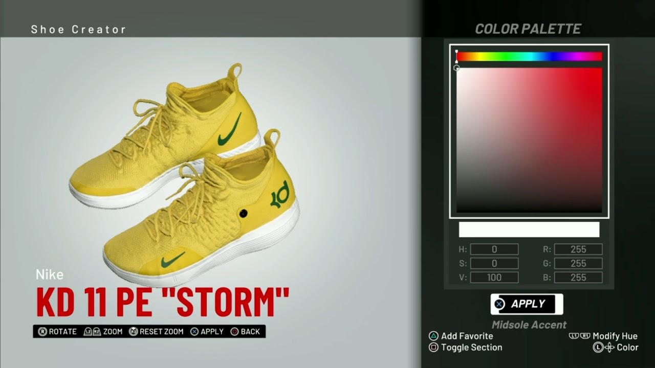 f5d81a30b82 NBA 2K19 Shoe Creator   Nike KD 11 PE