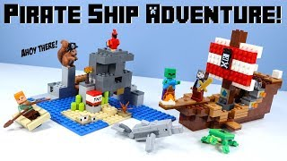 LEGO Minecraft The Pirate Ship Adventure Set Review 2019