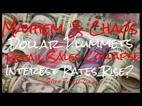 Retail Sales Collapse! Dollar Falls! Fed Raises Interest Rates into Economic Collapse