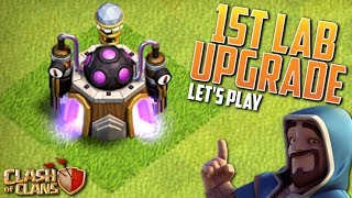 FIRST TH8 LABORATORY UPGRADE!  Clash of Clans