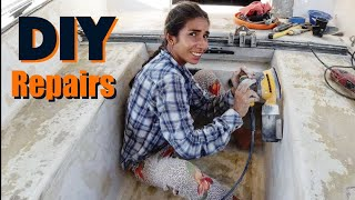 Ep.255 DIY Sailboat Repairs - Cartagena | How to fiberglass - How to wire splice -How to repair core