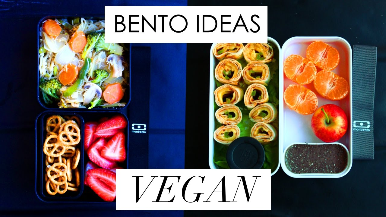 bento box lunch ideas 6 vegan youtube. Black Bedroom Furniture Sets. Home Design Ideas