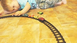 ★ ПАРОВОЗИК из машинок Хот Виллс Train from hot wheels Развлечение для детей Entertainment for kids