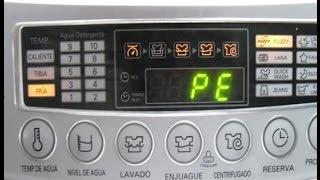 Error PE en lavadoras (Como solucionarlo)