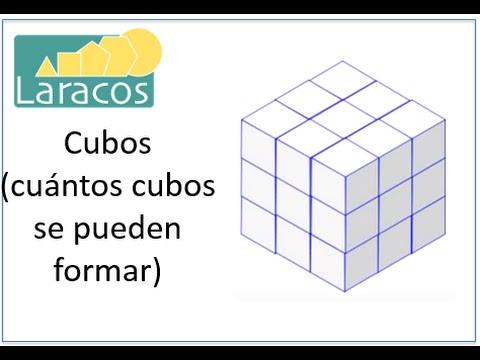Cubos Cuntos Se Pueden Formar A Partir De Un Cubo 3 Unidades