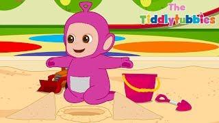 Zapętlaj Tiddlytubbies NEW Season 2! ★ Episode 10: Playing In Sand ★ Teletubbies Babies ★ Kid Shows | Tiddlytubbies [Teletubbies] - WildBrain