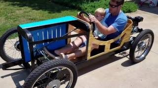 Amilcar cyclekart first test drive. #becausecyclekart