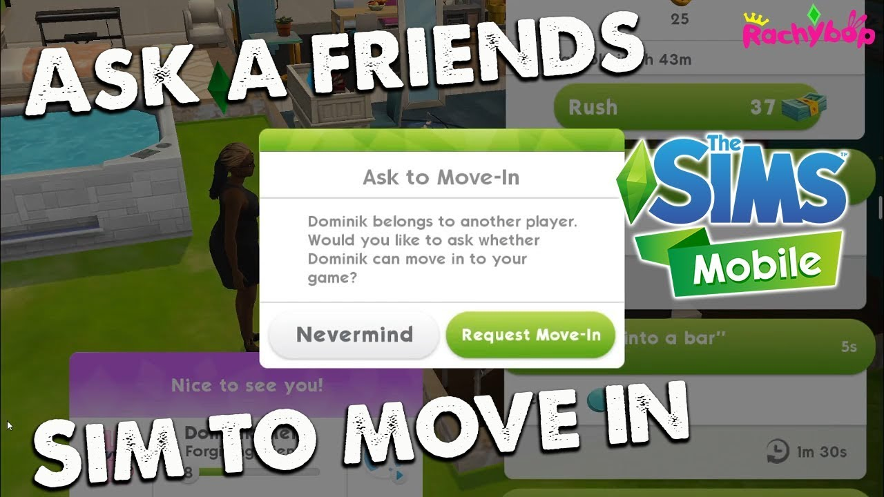 How to MOVE IN ANOTHER PLAYERS SIM in The Sims Mobile