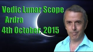 Vedic Lunar Scope: Ardra 4th October, 2015 - Off the Deep End