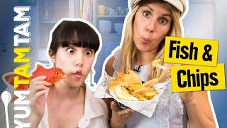 Steht wirklich die QUEEN in unserer Küche? // Fish and Chips // #yumtamtam