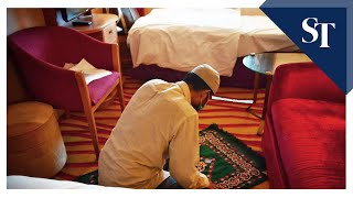 Covid-19: A Foreign Worker Does His Afternoon Prayers Inside Room On Board Cruise Ship In S'pore